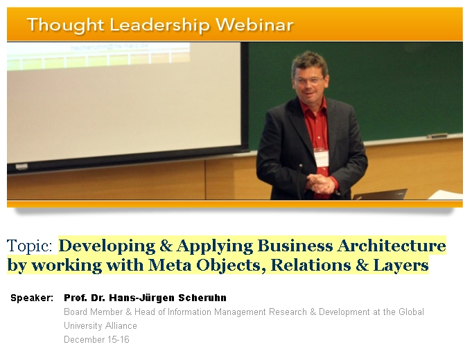 Free Webinar December 16th Developing >> Free Webinar Tip Developing And Applying Business Architecture By