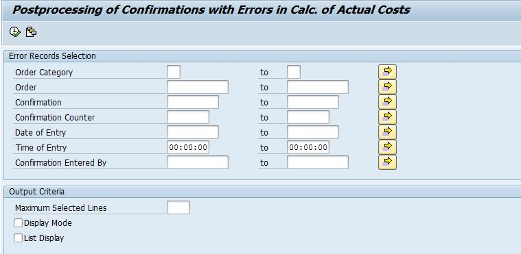 How to resolve CK466 error during confirmation production