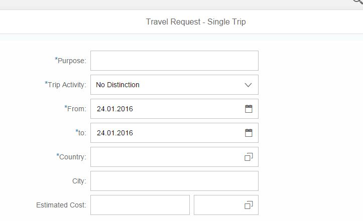 Create Travel Request  Extending Fiori Application To Get Default