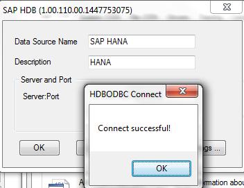 NEW DRIVER: SAP HANA ODBC
