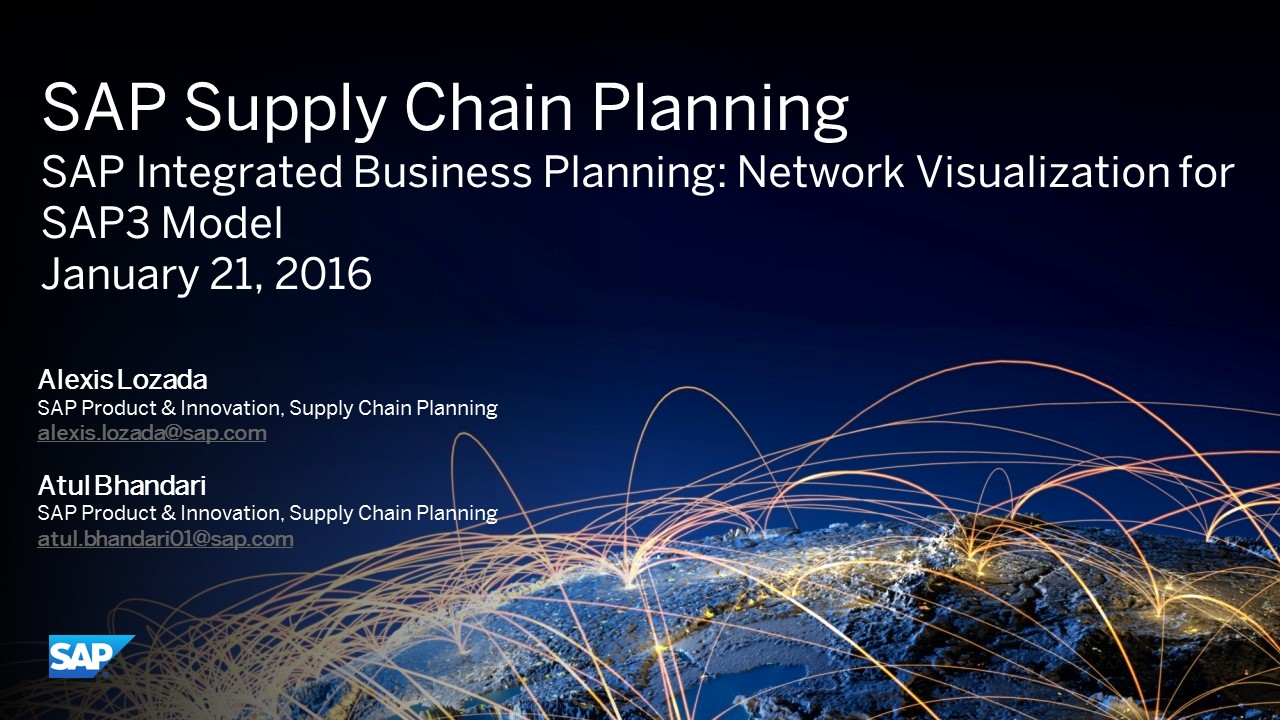 SAP Integrated Business Planning: SAP3 Model Network Visualization