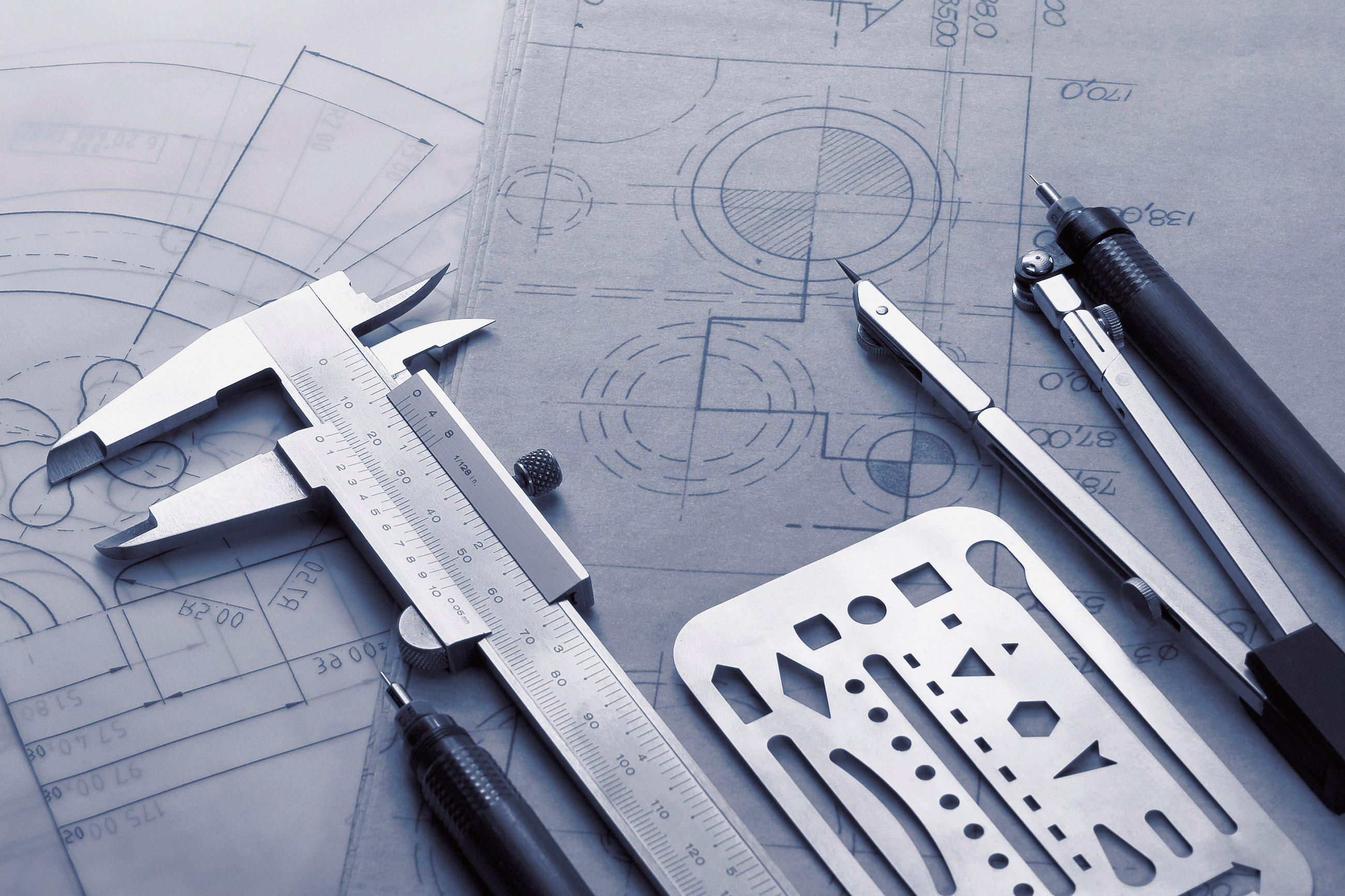 24 Jun 2013 --- Technical drawing instruments. --- Image by © KTSDESIGN/Science Photo Library/Corbis