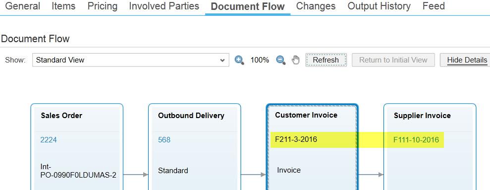 Intercompany stock transfer in sap pdf output