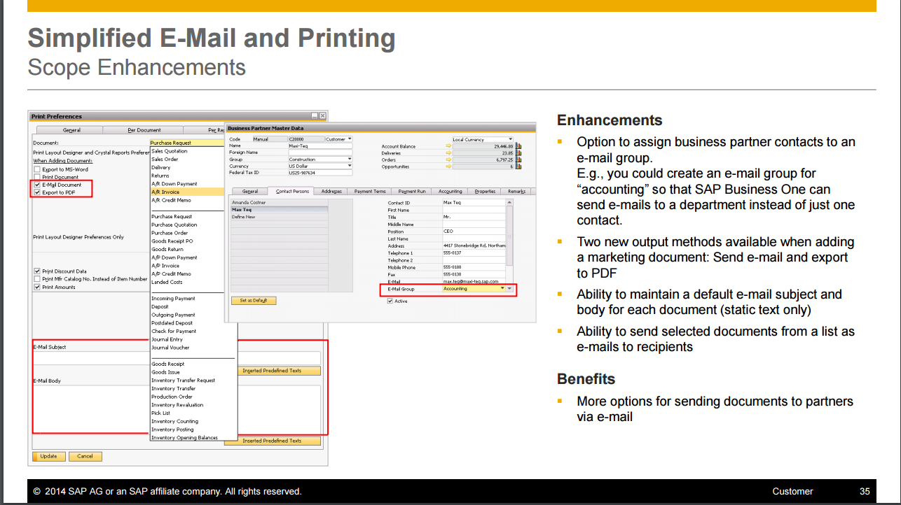 Simplified Email For Sending Documents In SAP Business One SAP - How to email an invoice