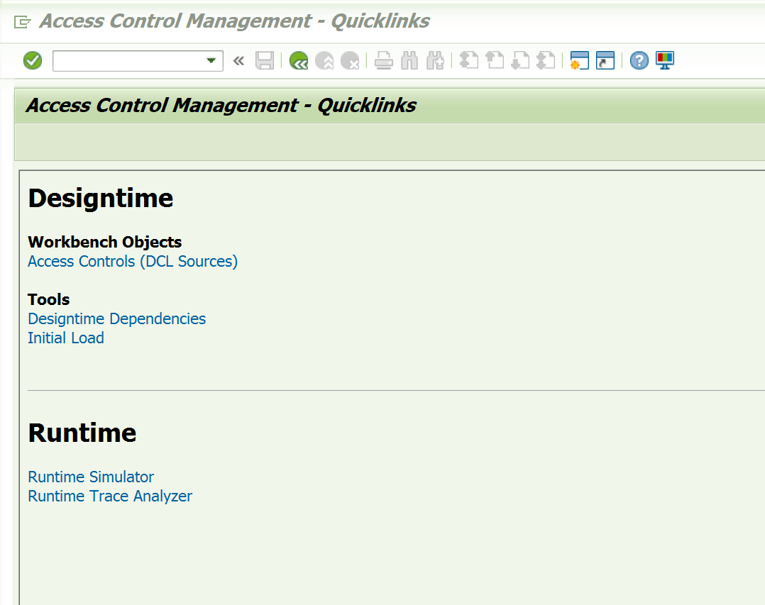 Tcode SACM(Access Control Management) to check authorization issues