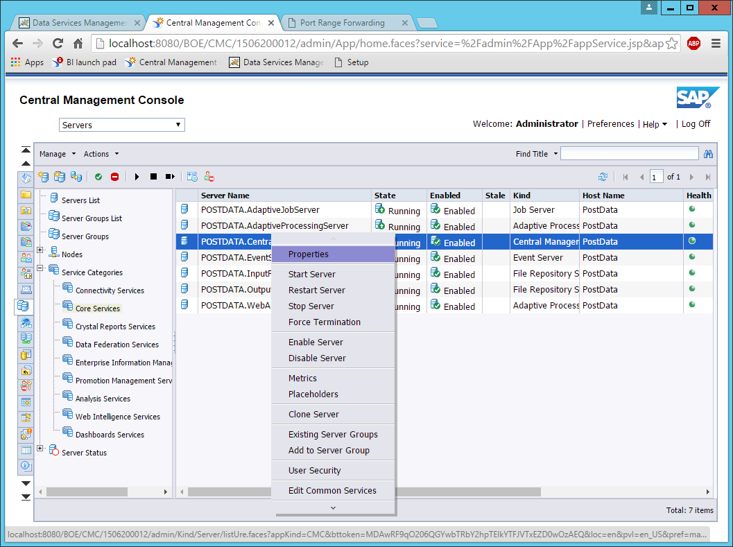 SAP BusinessObjects Data Services connectivity through NAT or