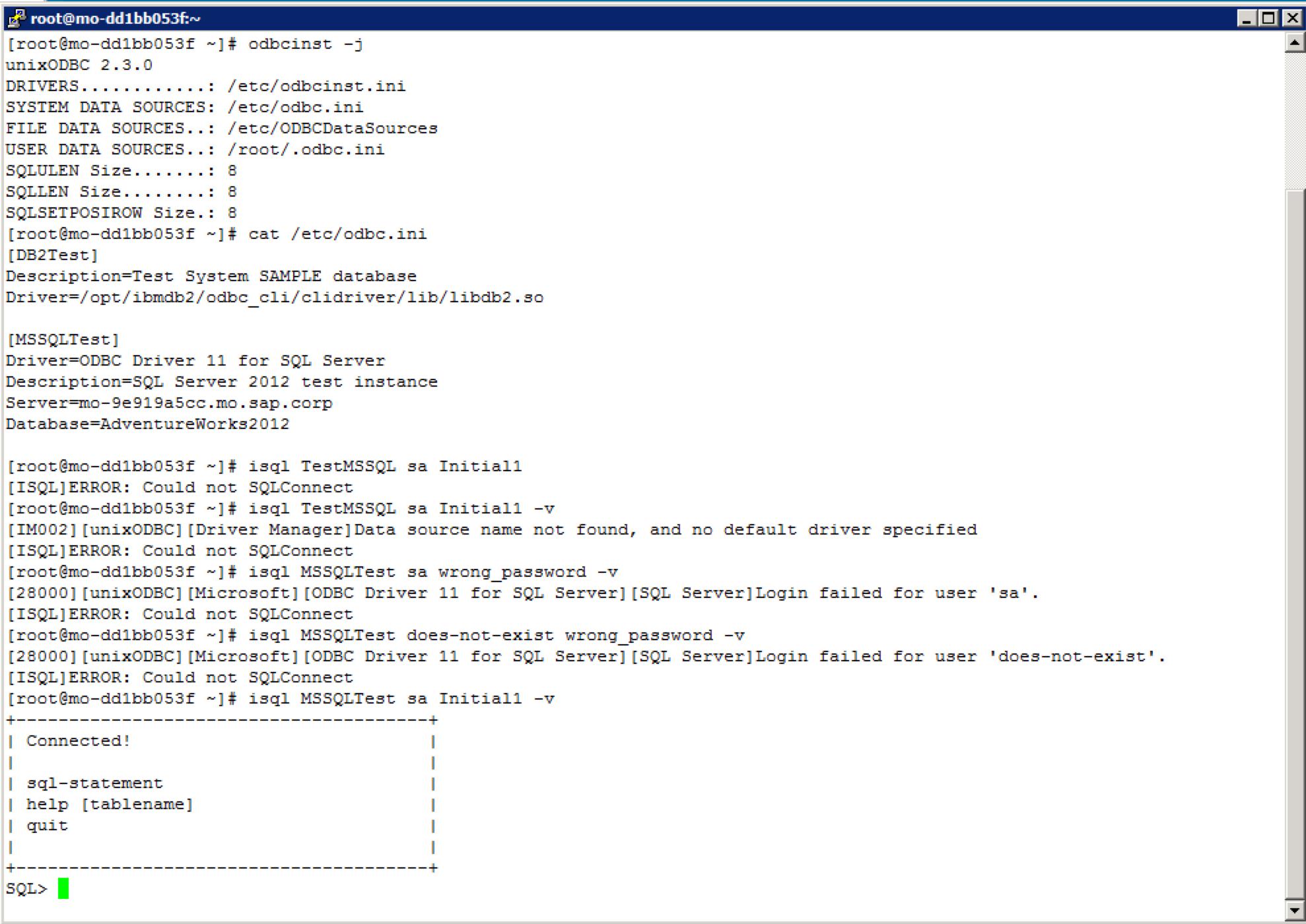 NEW DRIVERS: AIX SQL SERVER ODBC