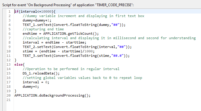 Timer functionality in SAP Design Studio without SDK and