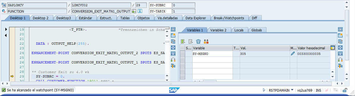 Como hacer DEBUG a partir de un mensaje de error | SAP Blogs