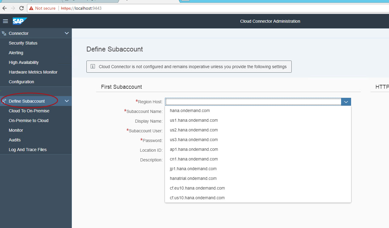 Enable SAP Analytics Cloud for data acquisition from on
