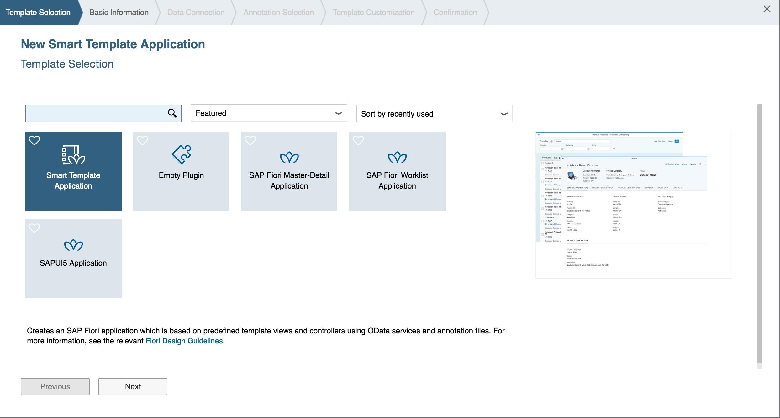 Creating an SAP Fiori Smart Template Application | SAP Blogs