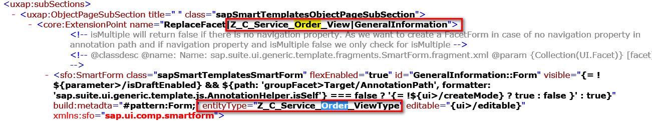 my understanding about how object page in smart template is rendered