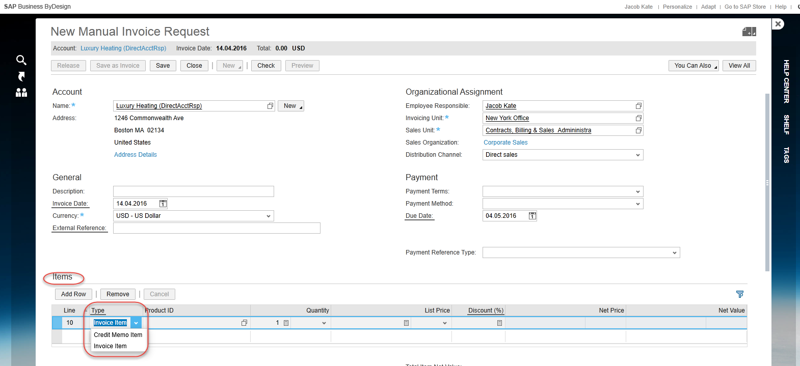 how to create credit memo in sap fico