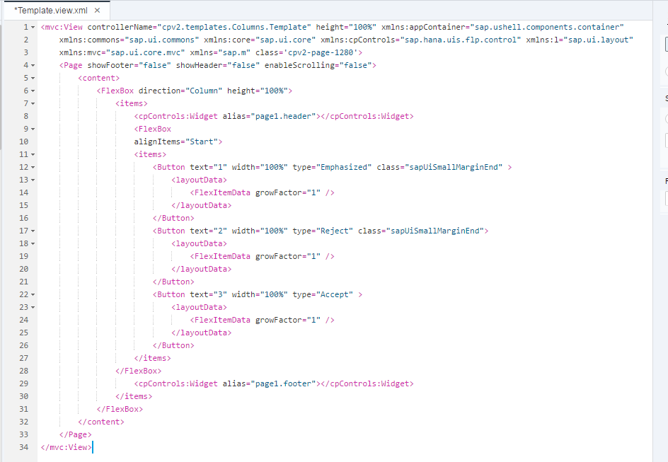 building my first site template on the updated version of sap cloud