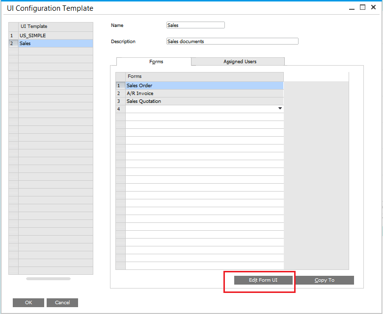 customizing sap business one forms with the ui configuration tool