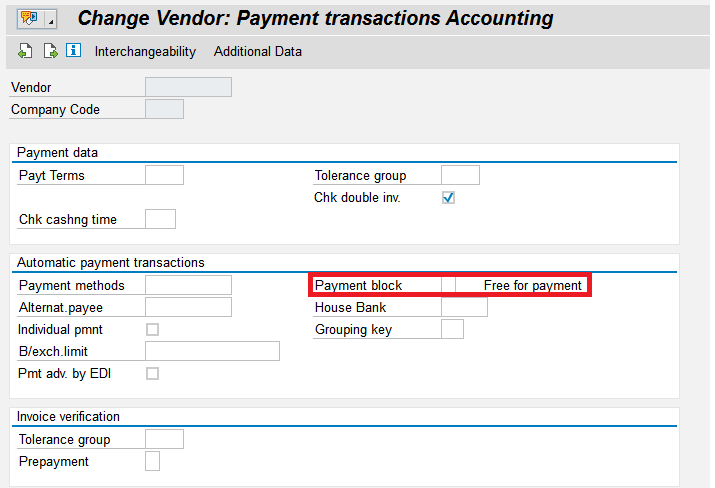 Payment Block | SAP Blogs