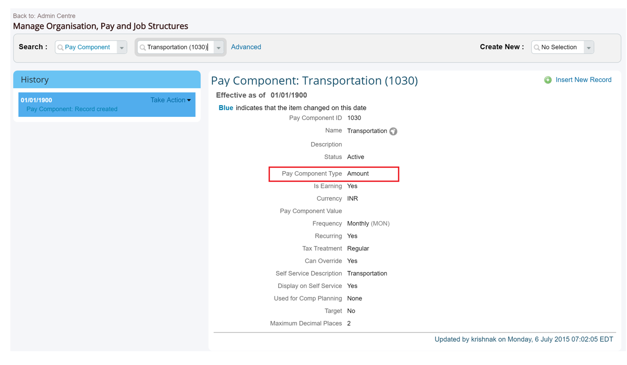 Defaulting Pay Components and Values Based on Total CTC in Employee