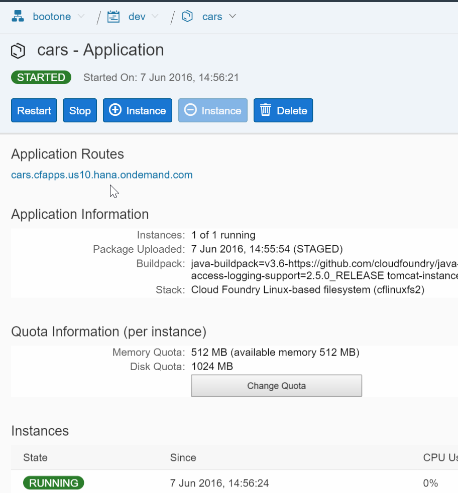 2016-06-07 15_47_57-bootone _ dev _ cars _ Overview - SAP HANA Cloud Platform, Starter Edition for C.png