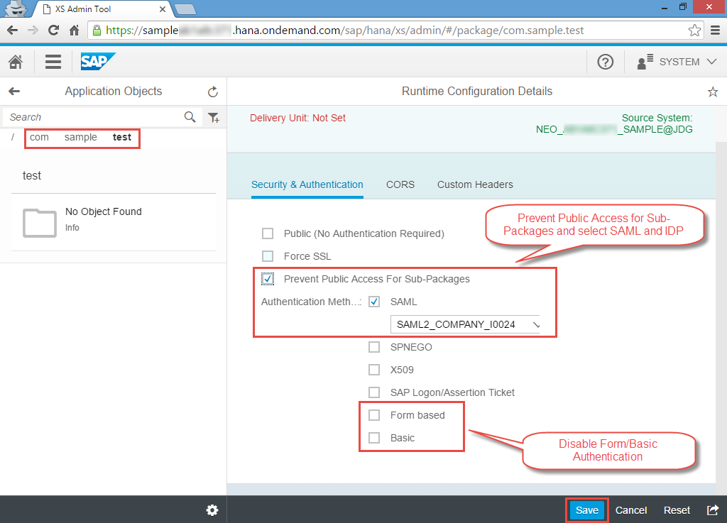 Configuring SAML single sign-on between SuccessFactors IDP