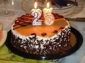 Image result for 25th birthday cake