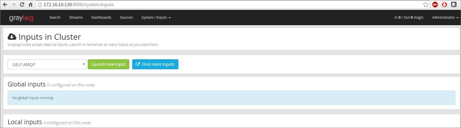 Demo on configuring graylog input and get messages sap blogs 5en select the syslog udp and click on launch new input button gumiabroncs Gallery