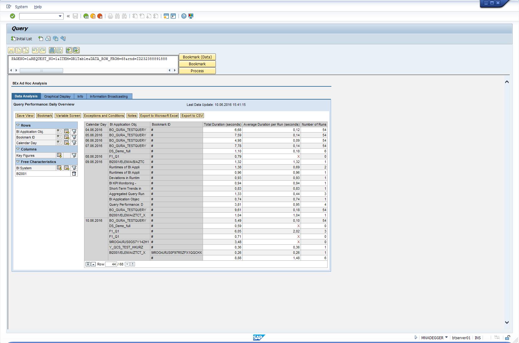 Enhance technical content with BEx 7.x bookmark calls | SAP Blogs