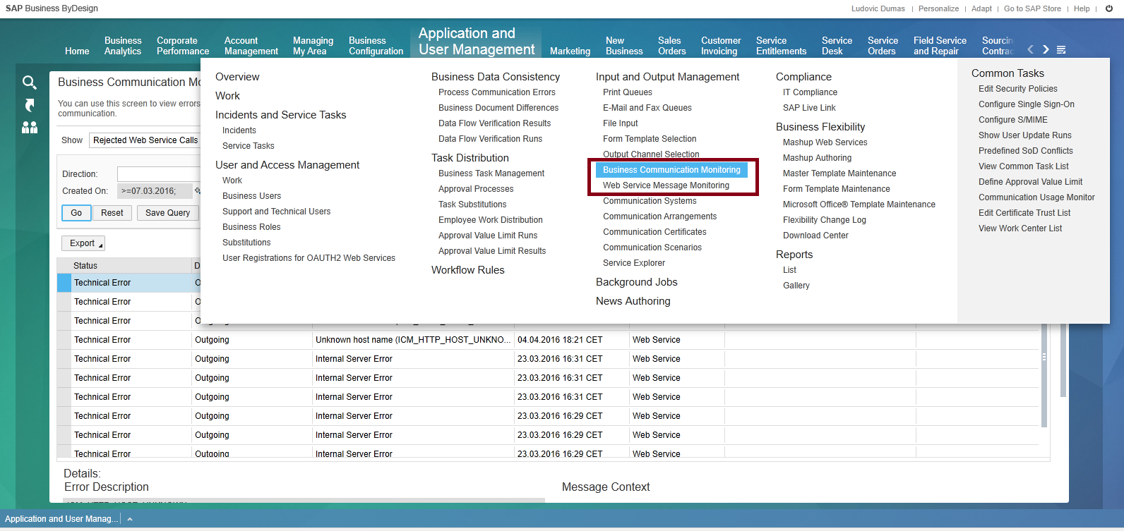 overview and execution of web service in sap business bydesign sap