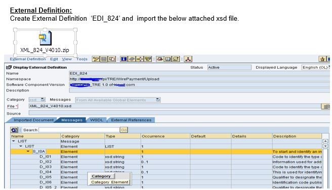 sap pi po java mapping to convert edi 824 file to edi xml without