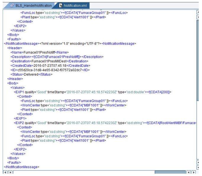 creating version notification through plant connectivity management