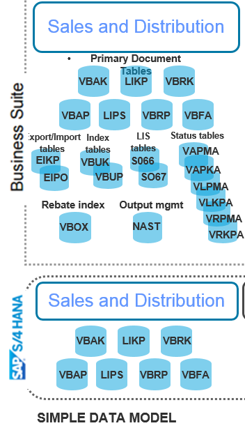 SAP S/4 HANA: Simplifications in Sales & Distribution Data