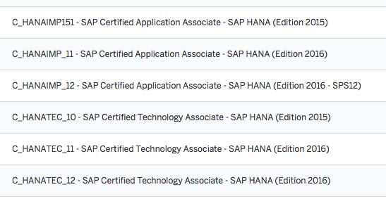 SAP Certified Technology Associate: C_HANATEC_11 – by the SAP HANA