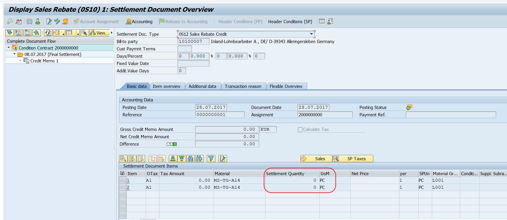 how to create a vendor credit memo sap