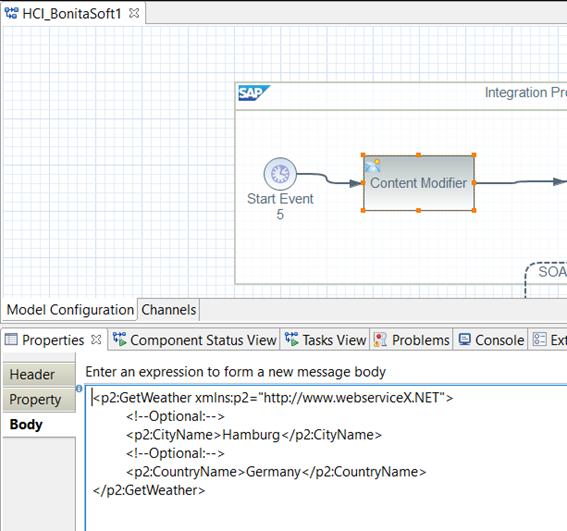 SAP HCI vs Bonitasoft with famous GlobalWeather Service