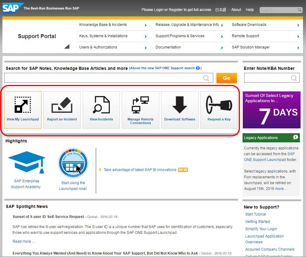 tips and tricks � sap one support launchpad optimize your