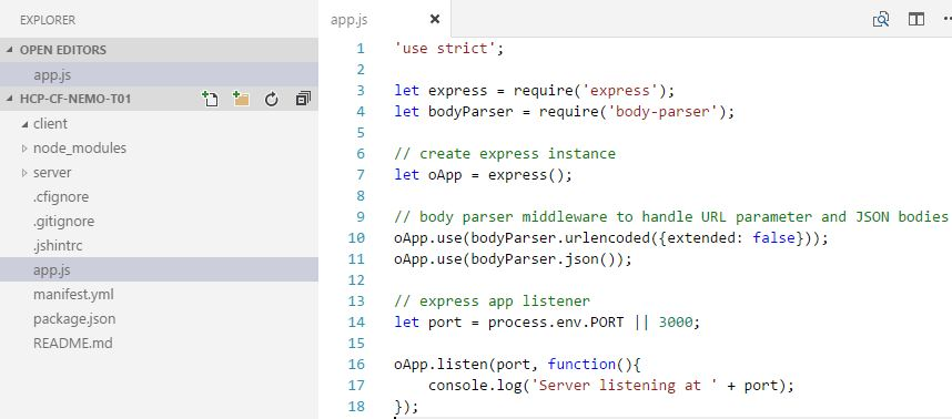 SCP Cloud Foundry – Playing around with Node js, MongoDB and