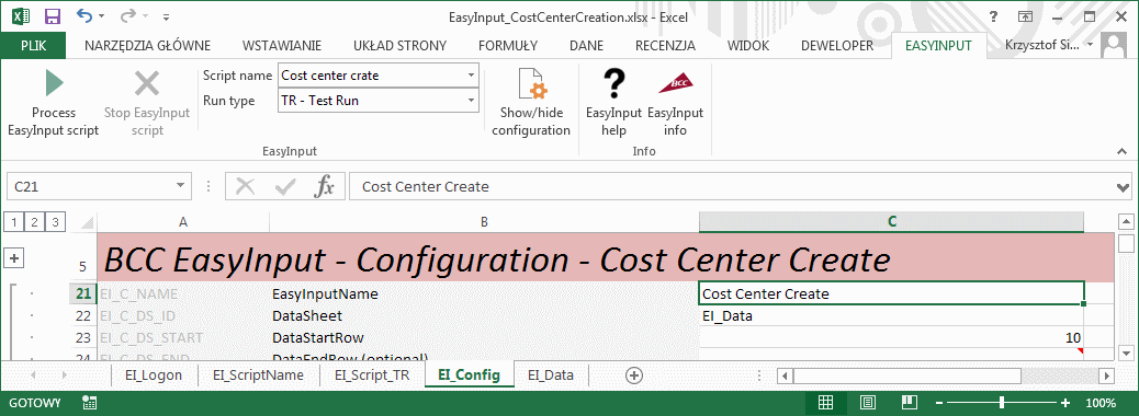 Easy Excel to SAP data migration using EasyInput – Five minutes to ...