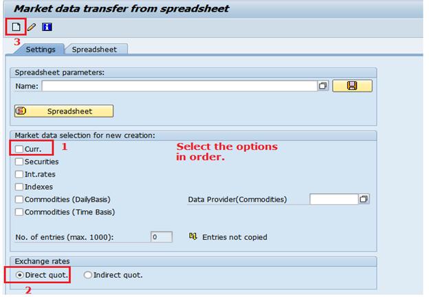 Upload Exchange Rates using TBEX option | SAP Blogs
