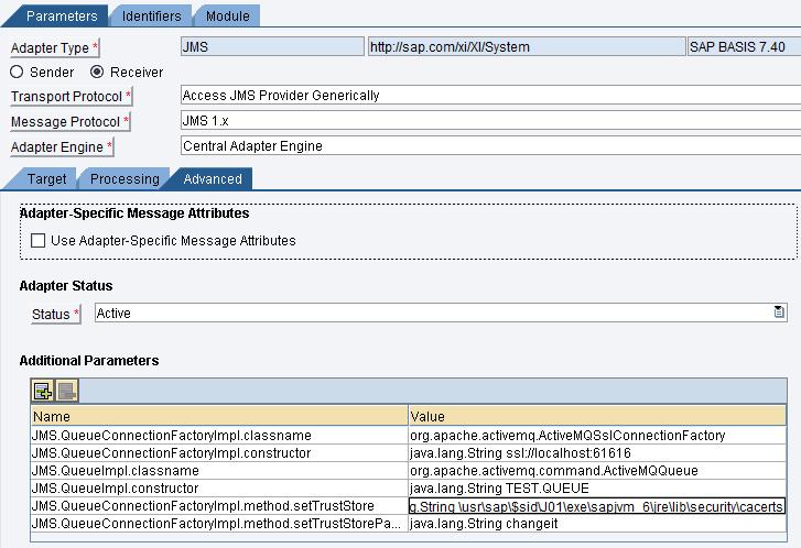 JMS Adapter ActiveMQ (AMQ) with SSL/TLS on PI 7 4   SAP Blogs