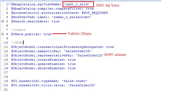 Create Fiori app using CDS with BOPF- For beginners Part 1