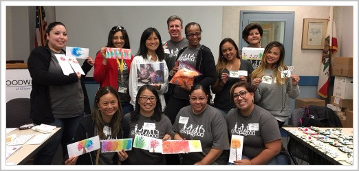 SAP Month of Service - Employees paint envelopes, make tickets and badges for Sunday Friends