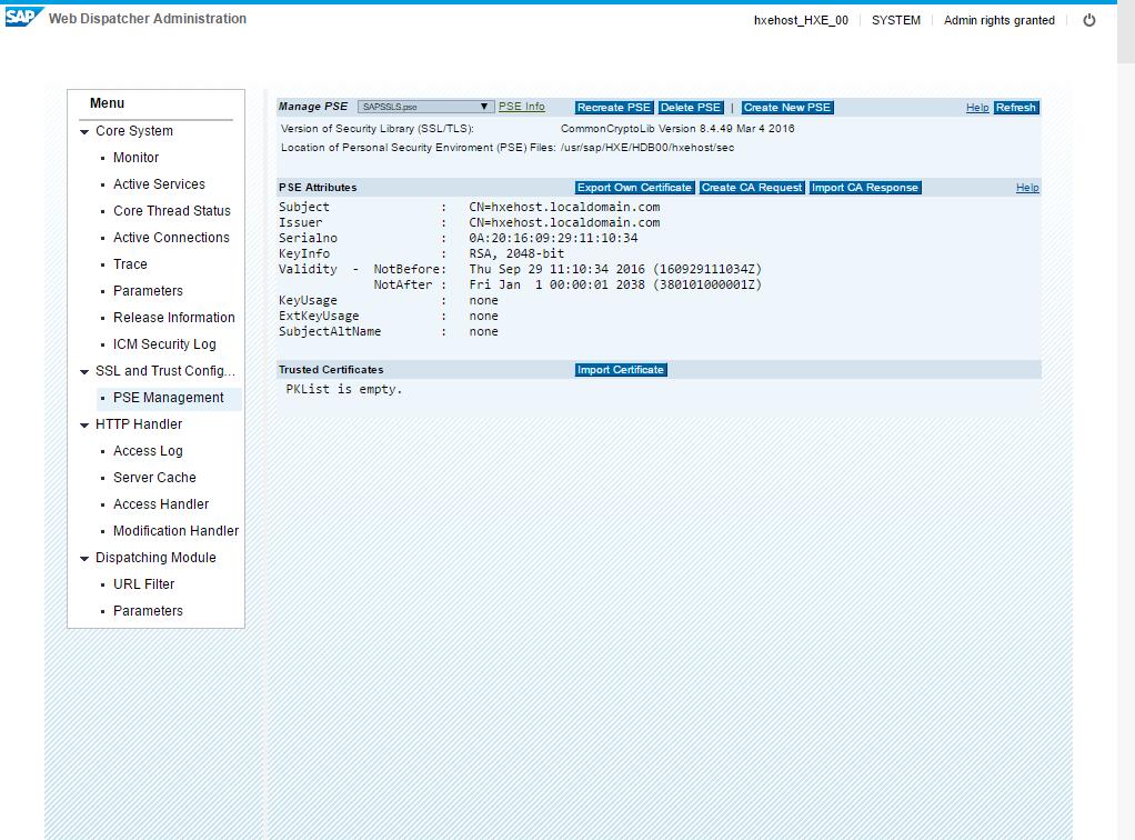 Enable TLS on HANA Web Dispatcher with OpenSSL certificates   SAP Blogs