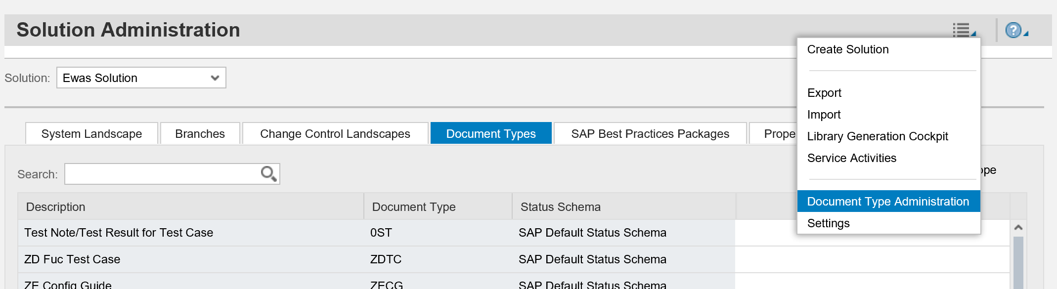 Maintain Access To Specific Document Types In SAP Solution Manager - Process documentation guide
