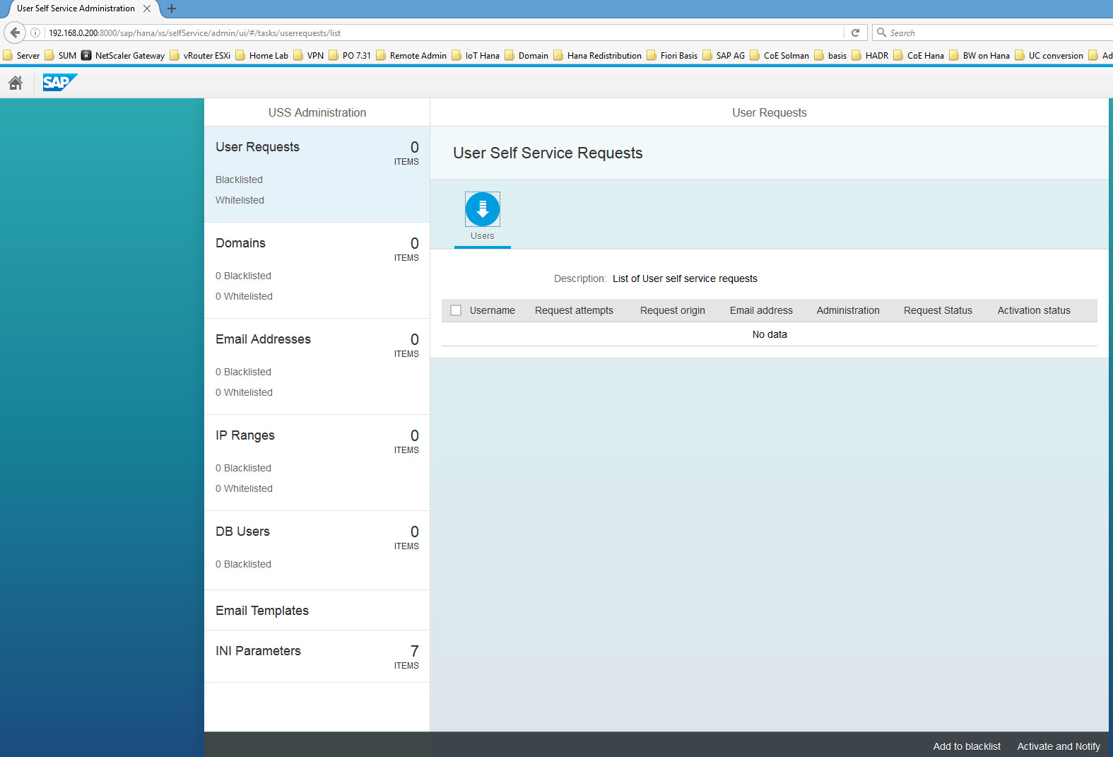 SAP Hana User Self-Service Configuration | SAP Blogs