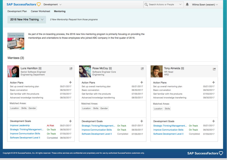 SAP SuccessFactors Succession & Development – Mentoring | SAP Blogs
