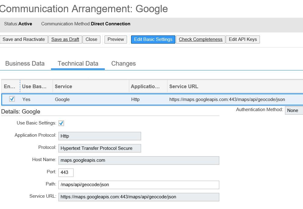 Google geocoding API for address check and normalization
