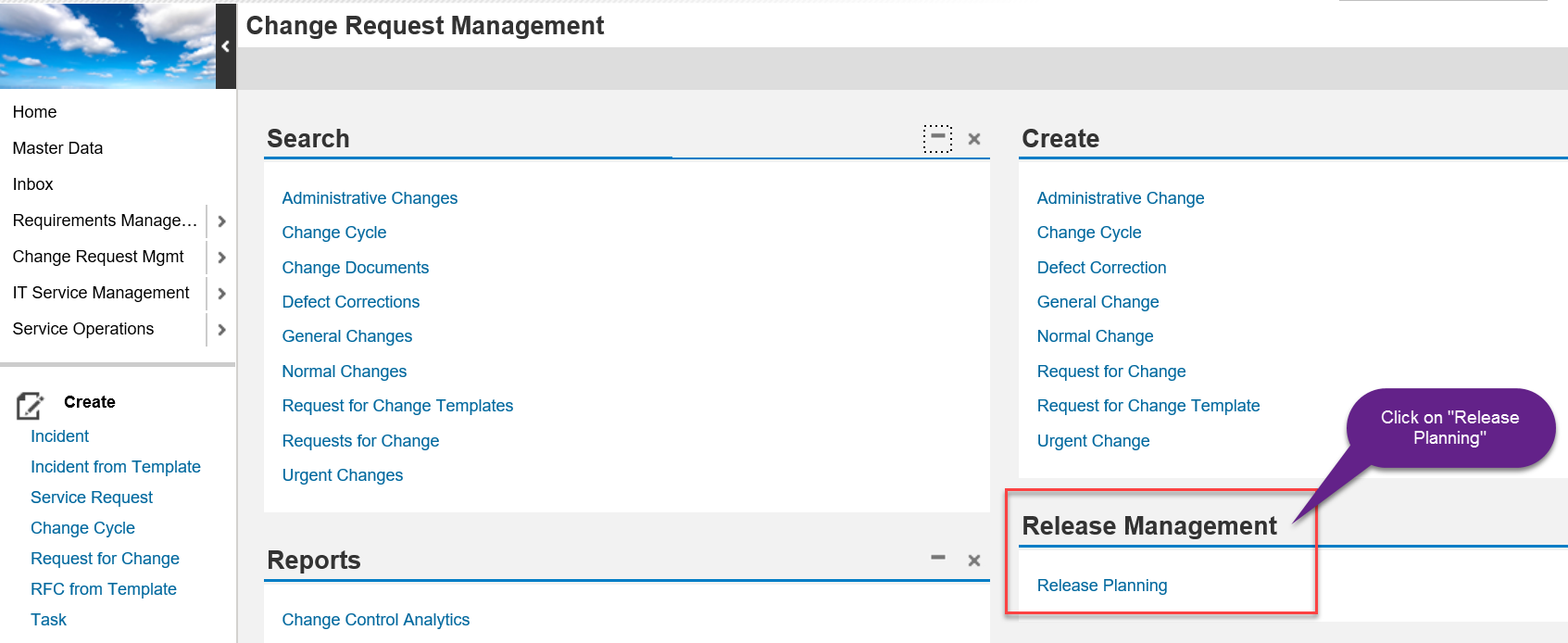 A Open The CRM UI With Transaction SM To Access SAP Solution Manager ITSM Click On Change Request Management Tab And Then Choose Release