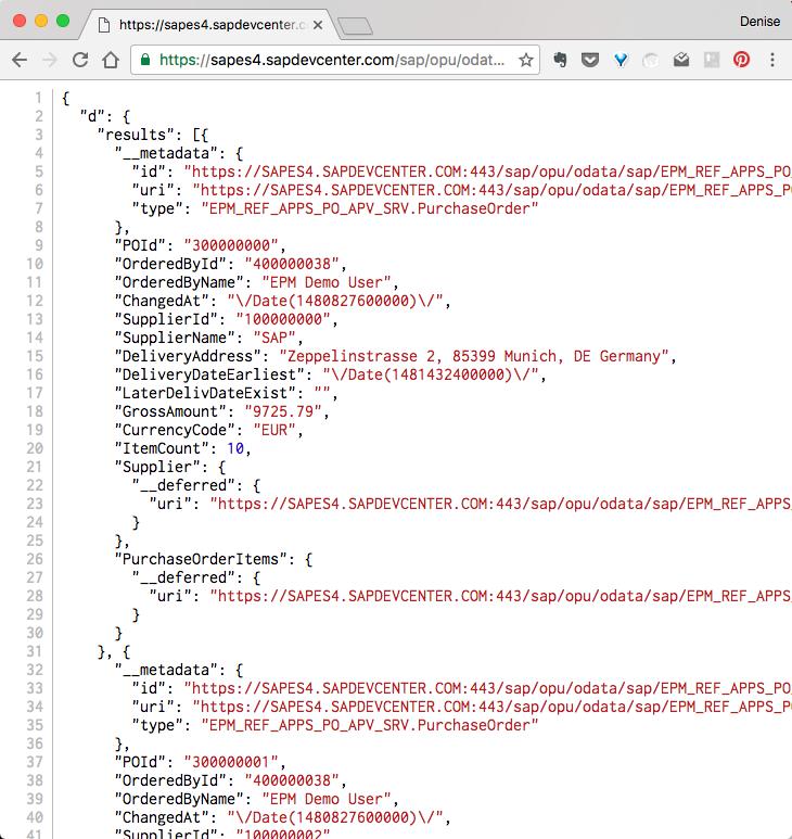OData Mock Data Editor in SAP Web IDE   SAP Blogs