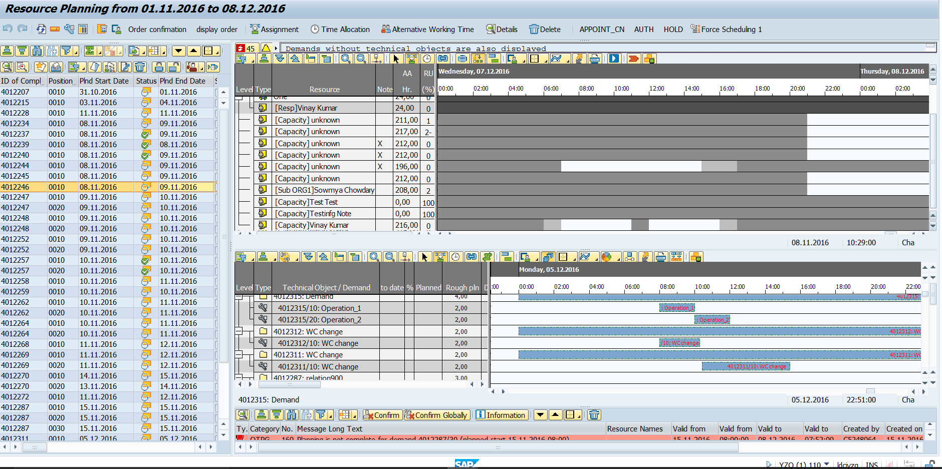Resource and capacity planning in sap using sap for Website planning tool