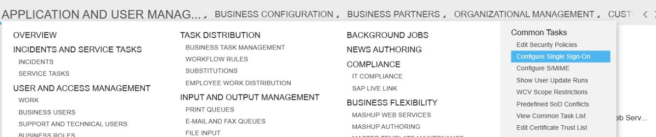 Configurations for SSO with SAML2 0 between SAP Cloud for