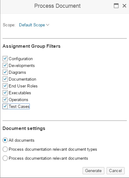 How To Generate A Process Document In SAP Solution Manager SAP - How to document a process